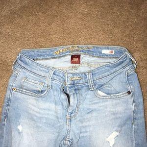 Ripped skinny light blue jeans size 1